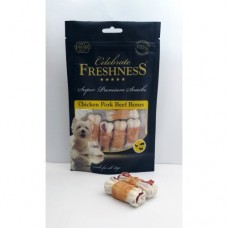 CELEBRATE CHICKEN PORK BEEF BONES (1X7 PCS) 75GR