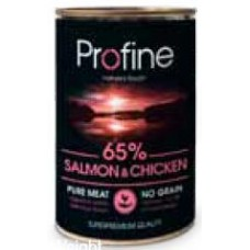 Profine super premium κονσέρβα σκύλου 400gr . Salmon . chicken & Potatoes.